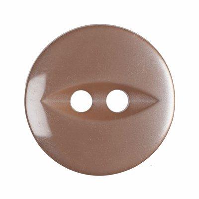 Knoop 11 mm licht bruin 10 stuks