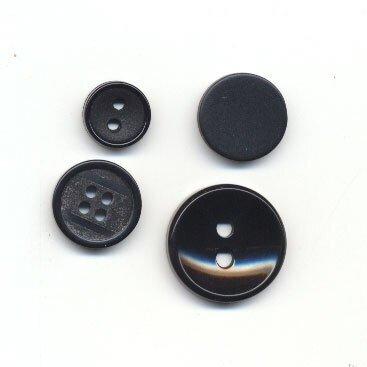 Knoop 35 mm zwart