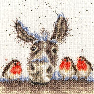Borduurpakket dieren - Hannah Dale Christmas Donkey