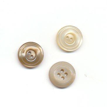 Knoop 15 mm ecru