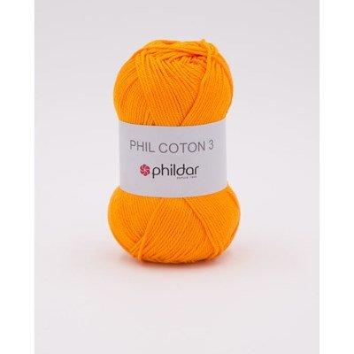 Phildar Phil coton 3 Mandarine NIEUW