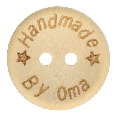 Knoop 20 mm houtlook handmade by oma