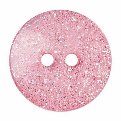 Knoop 13 mm rond glitter licht roze