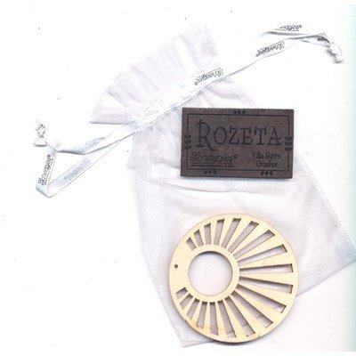 Call 2019 Scheepjes Rozeta label zon hout en leer op=op