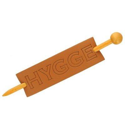 Sluiting met speld rechthoek Hygge 135 mm - Skaileer oker