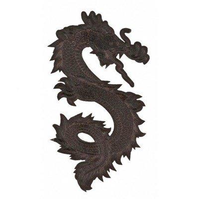 Applicatie draak 13 a 7,5 cm zwart rechts 36493