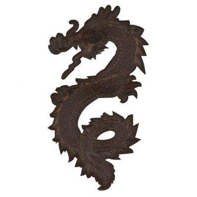 Applicatie draak 13 a 7,5 cm zwart links 36494