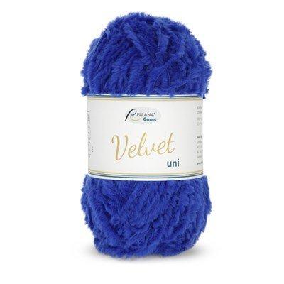 Rellana Garne Velvet uni 022 kobalt blauw op=op