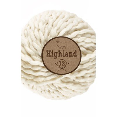 Lammy Yarns Highland 12 - 016 ecru