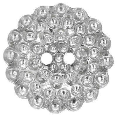 Knoop 25 mm zilver margriet