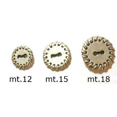 Knoop 15 mm metaal zilver met zoom rand