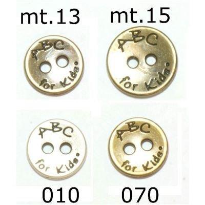 Knoop 13 mm metaal zilver ABC for kids