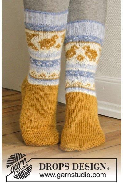 Breipatroon Paas sokken met Noors patroon