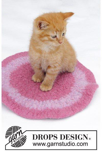 Viltnaald patroon Mat voor de kat