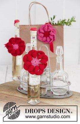 Haakpatroon bloem, gemaakt van Drops ....