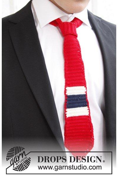 Haakpatroon Gehaakte stropdas in nationale kleuren van Safran