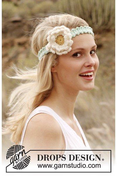 Haakpatroon Gehaakte haarband met bloem