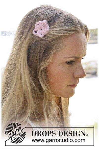 Haakpatroon Gehaakte bloem voor op een haarspeld