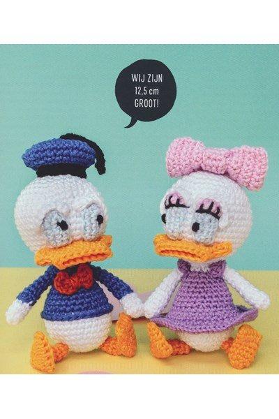 Haakpatroon Poppen Donald en Katrien Duck
