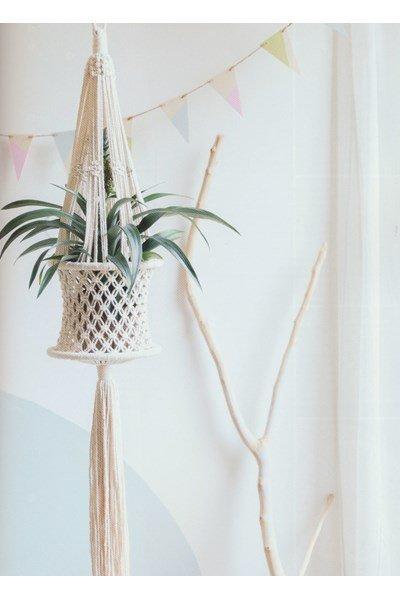 Macrame patroon Plantenhanger