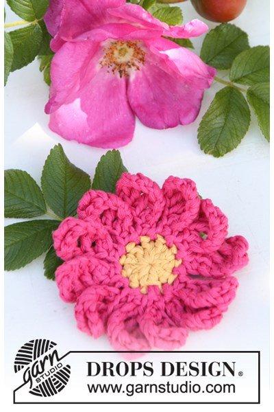 Haakpatroon Gehaakte roos