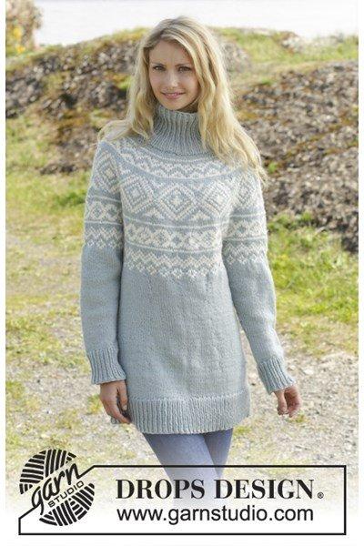 Breipatroon Gebreide trui met Noors patroon