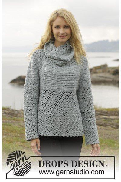 Haakpatroon Gehaakte trui met kantpatroon