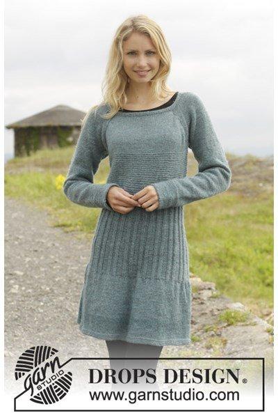 Breipatroon Gebreide jurk in ribbelsteek