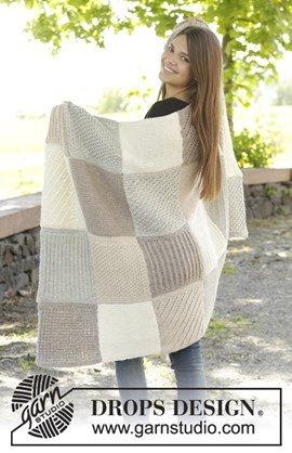 Gebreide deken met vierkanten in ....