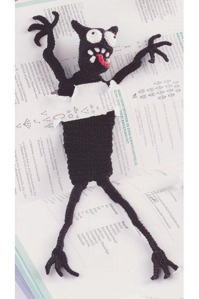 Haakpatroon Boekenlegger Monster Melchior