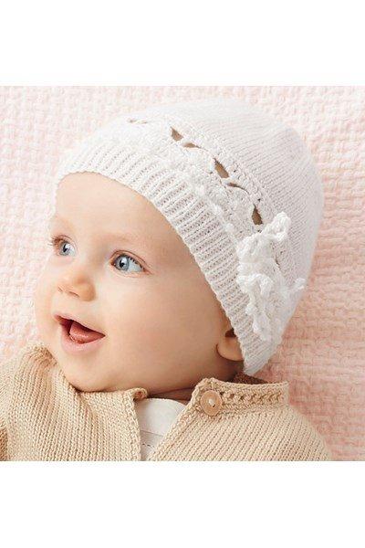 Brei- en haakpatroon Baby muts