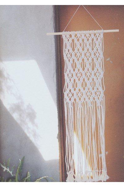 Macrame patroon Wandkleed