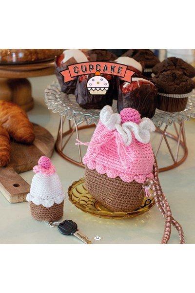 Haakpatroon Cupcake set