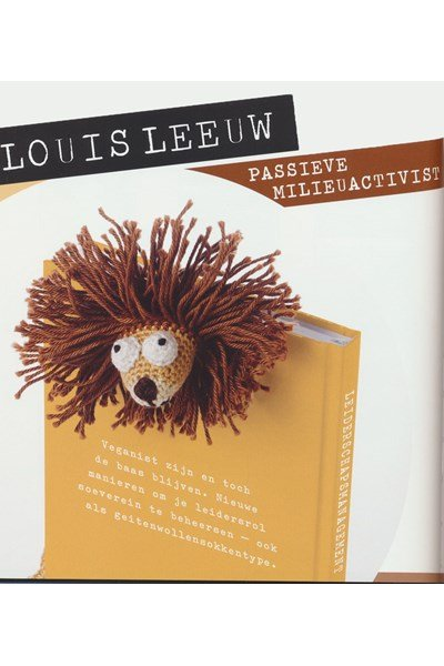 Haakpatroon Boekenlegger leeuw
