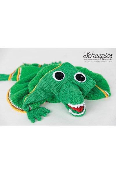 Haakpatroon Krokodil cape