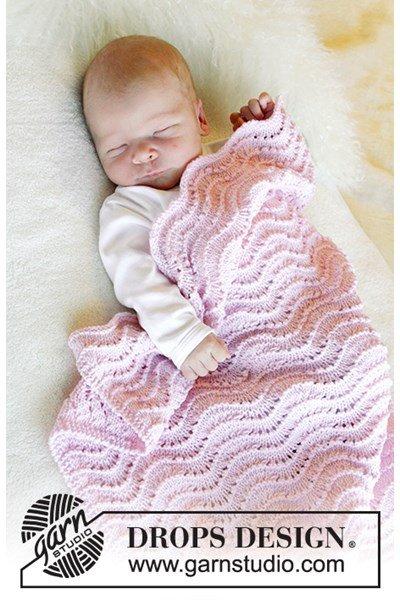 Breipatroon deken voor wieg en ledikant