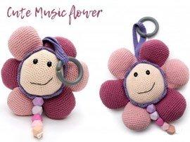 Haakpatroon Cute Music fower van het ....
