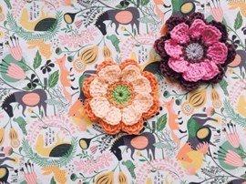 Haakpatroon bloem van het haakkatoen ....